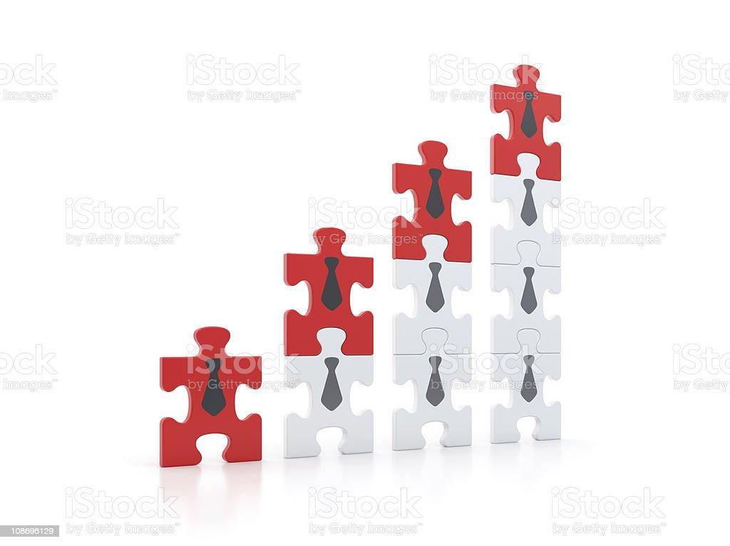 Gebäude der Erfolg Entwicklung. Business-Diagramm Konzept Darstellung dieser Farben schwertun. – Foto