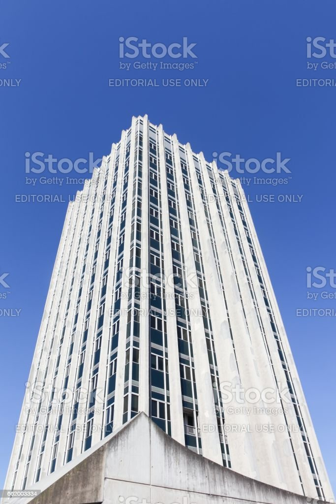 Building of the International agency for research on cancer in Lyon, France royalty-free stock photo