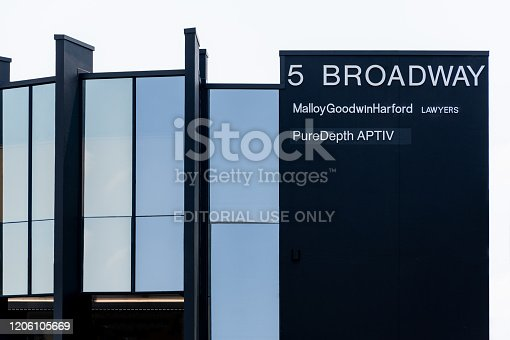 istock Building of the law firm Malloy Goodwin Harford Lawyers. 1206105669