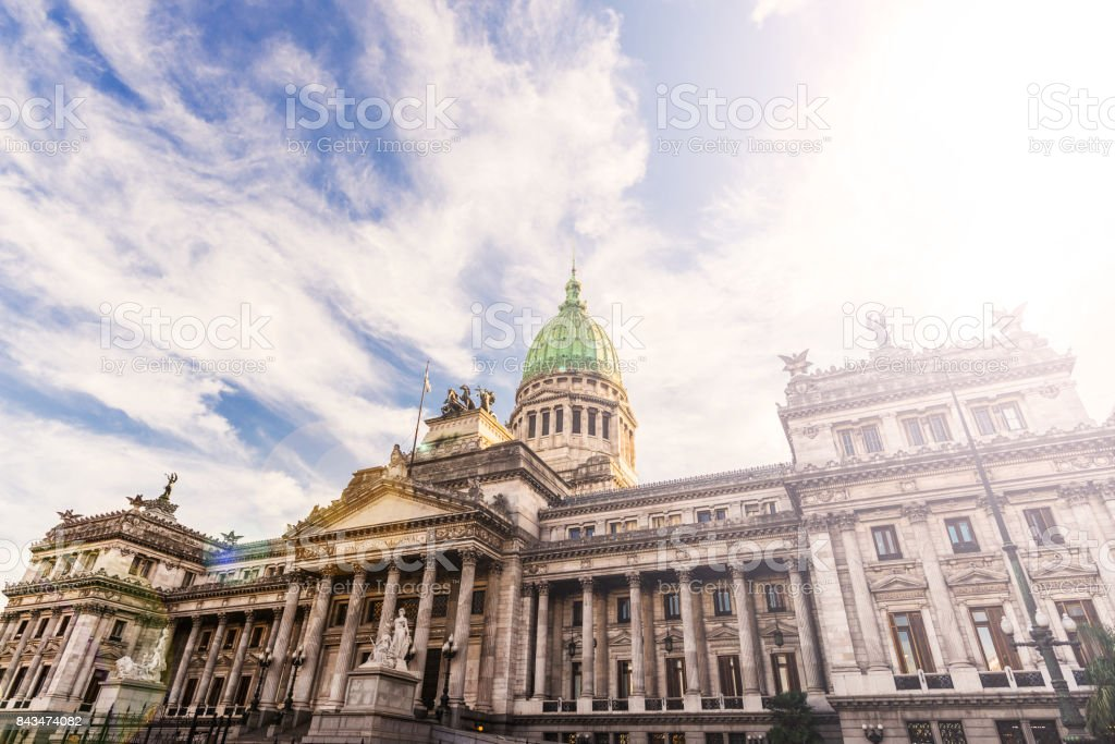 Building of the National Congress of Buenos Aires, Argentina stock photo