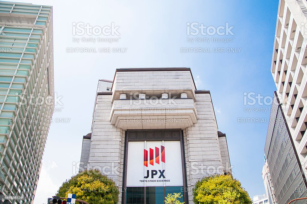 Building of the Tokyo Stock Exchange stock photo