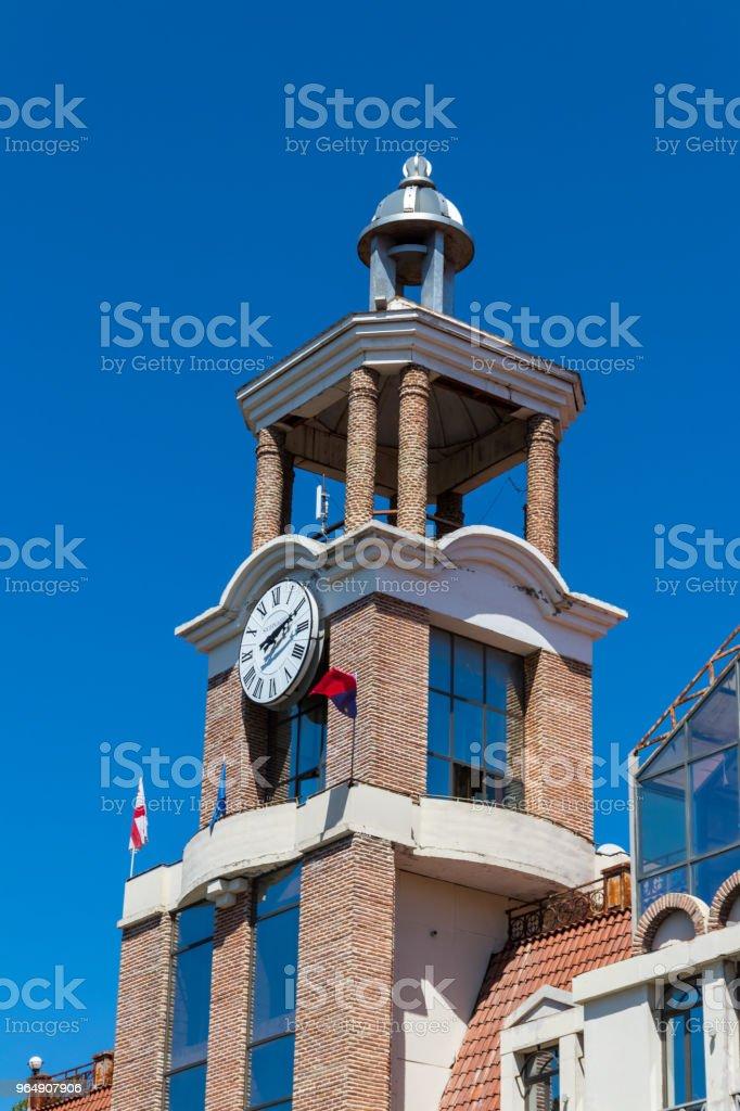 佐治亞 Sighnaghi (Signagi) 鎮市政廳大廈 - 免版稅傳統圖庫照片