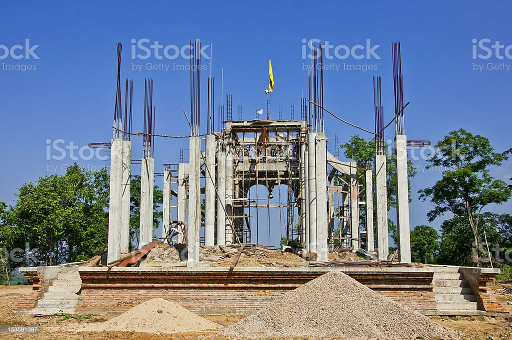 building of Wat (Temple) in Thailand. royalty-free stock photo