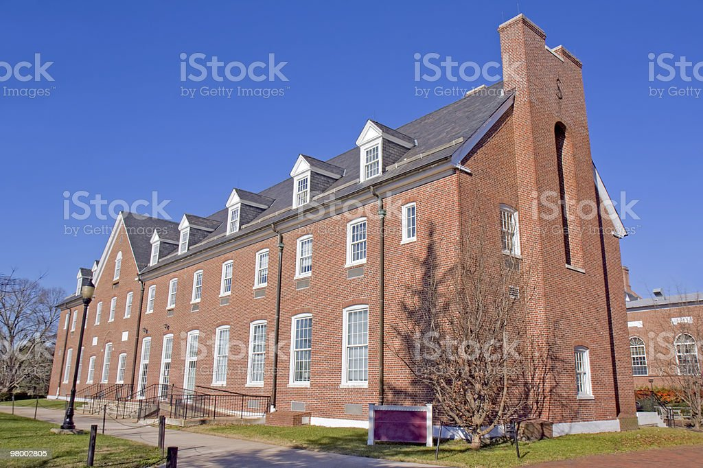 Building on a university campus royalty-free stock photo