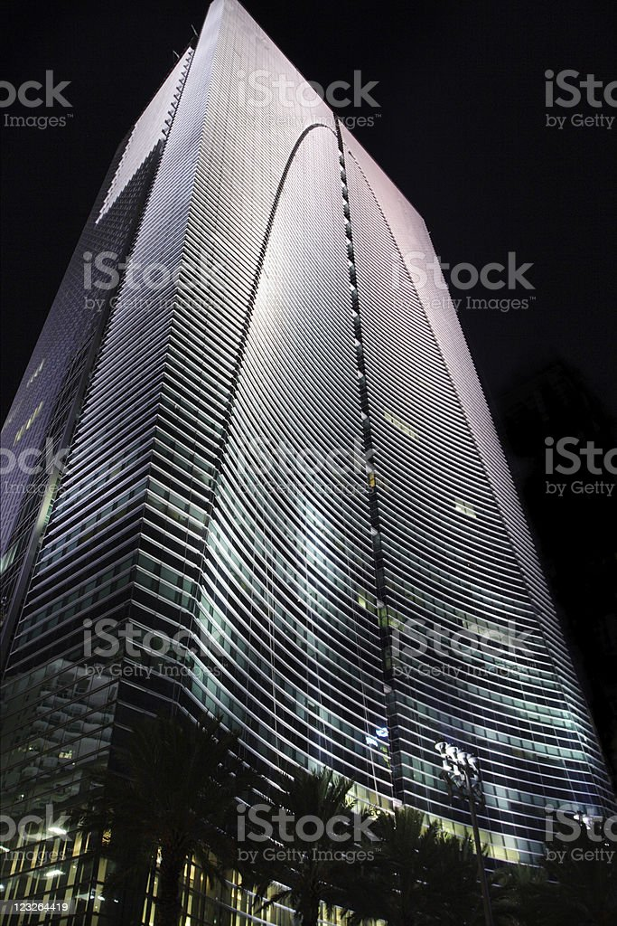 Building on Brickell stock photo