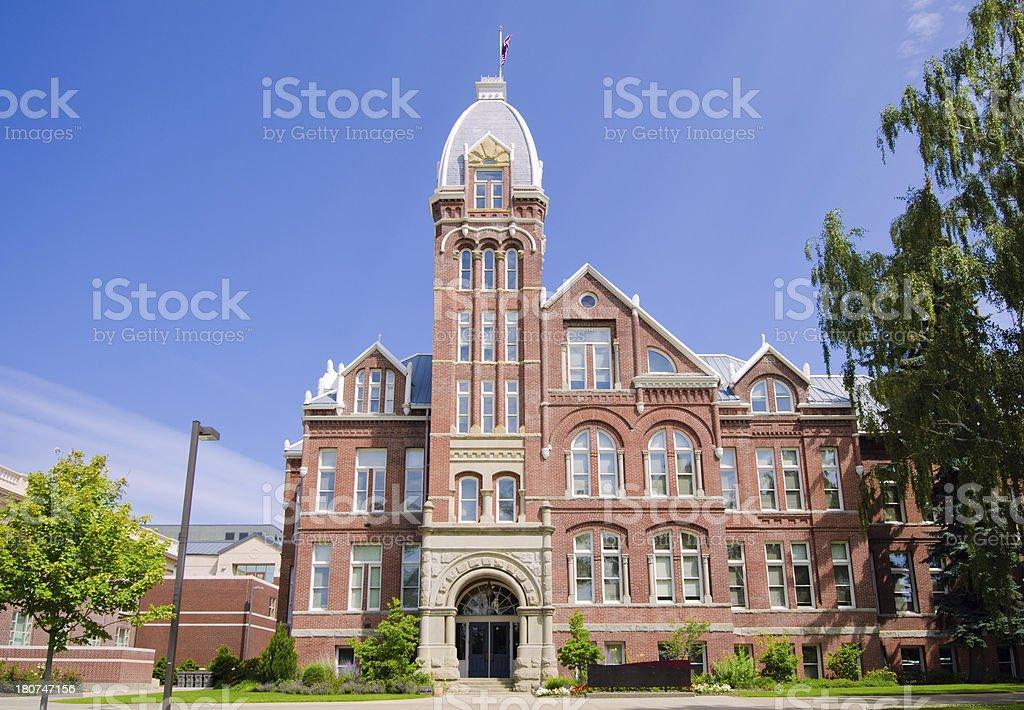 Building on Central Washington University campus in Ellensburg, WA royalty-free stock photo