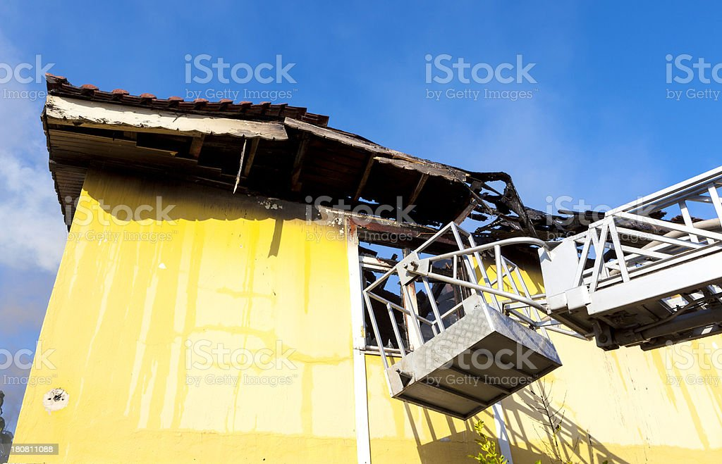 Building on fire. royalty-free stock photo