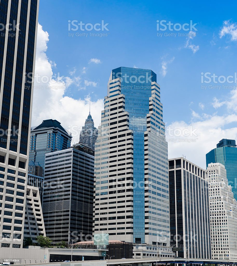 building on lower manhattan royalty-free stock photo