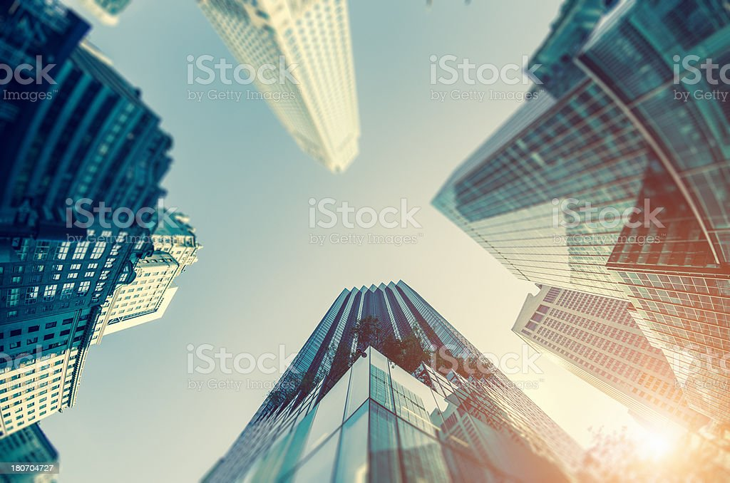 building on manhattan, low angle view royalty-free stock photo