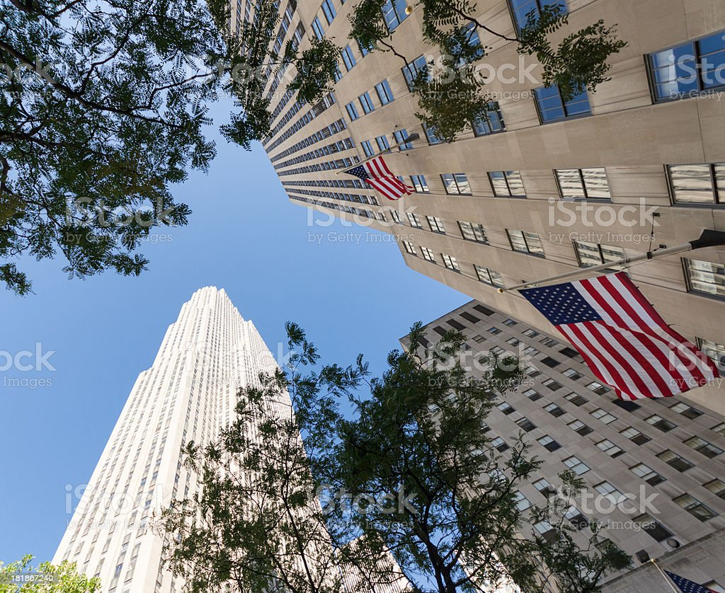 building on the downtown of NYC royalty-free stock photo