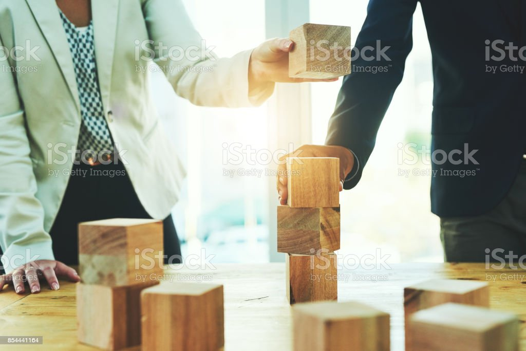 Building on their success together stock photo