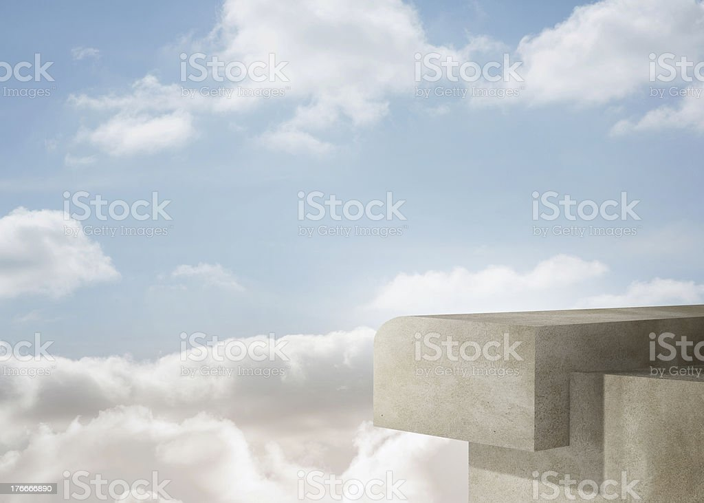 Building over the clouds royalty-free stock photo