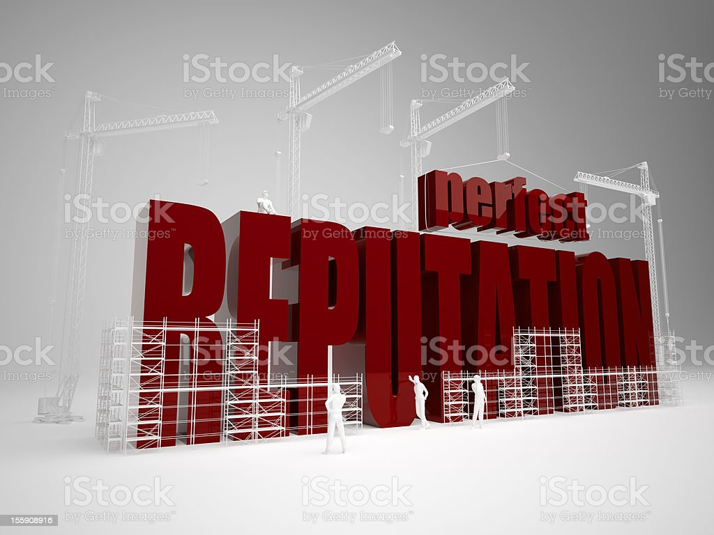 Building perfect reputation royalty-free stock photo