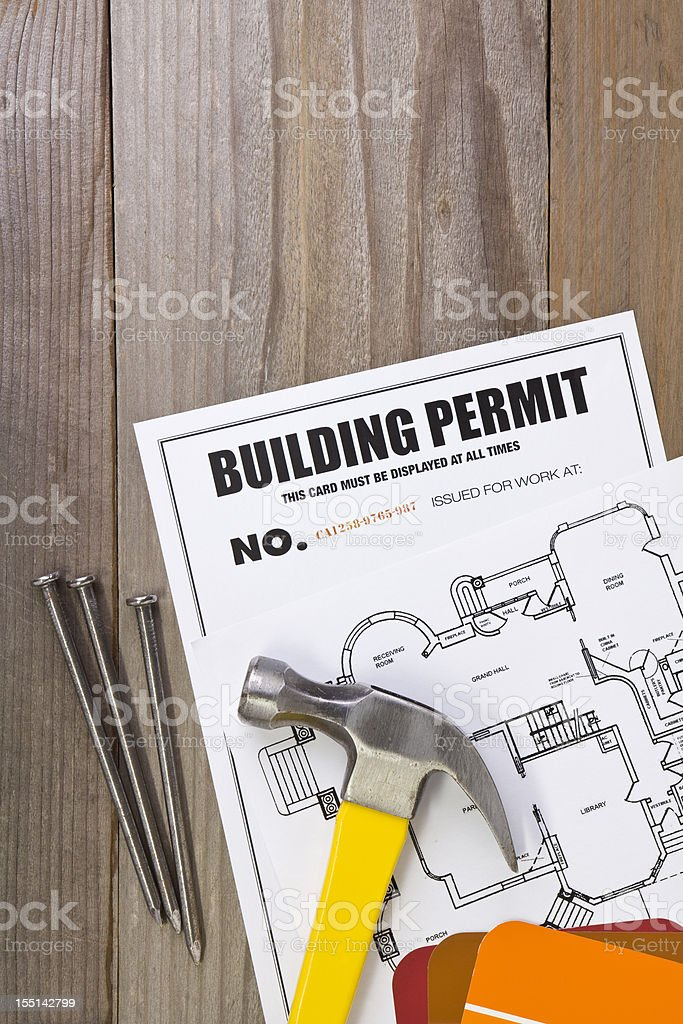 Building Permit royalty-free stock photo