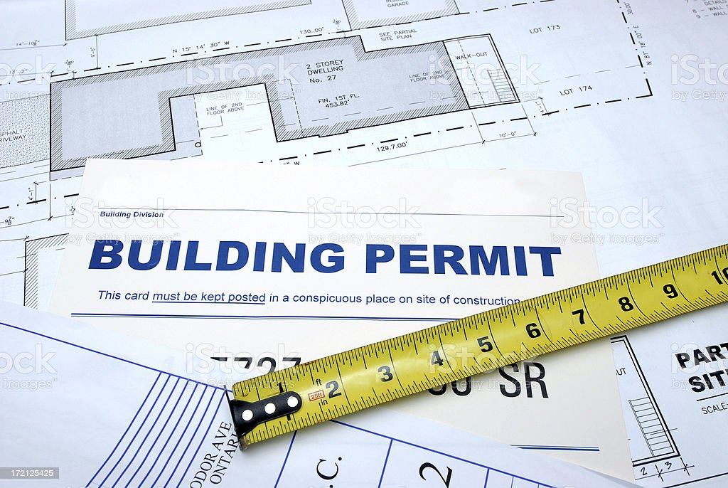 Building permit stock photo more pictures of authority istock building permit royalty free stock photo malvernweather Gallery