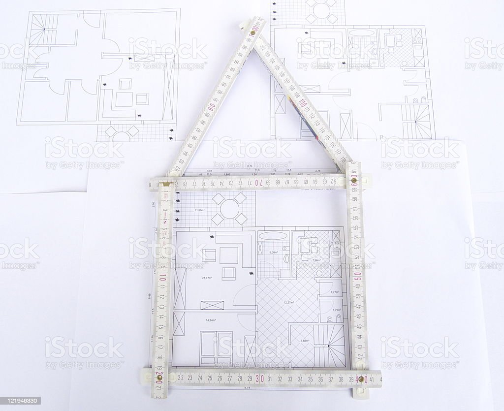 building plan royalty-free stock photo