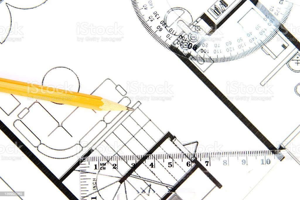 Building plan royalty-free stock photo