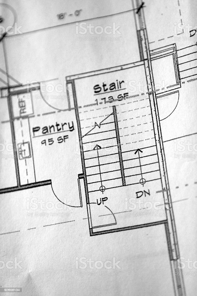 Building Plans royalty-free stock photo