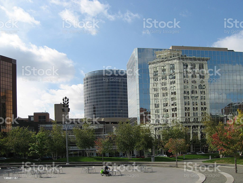 Building Reflected, Grand Rapids, Michigan royalty-free stock photo