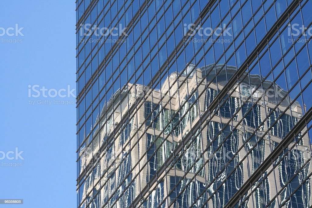 building reflection stock photo