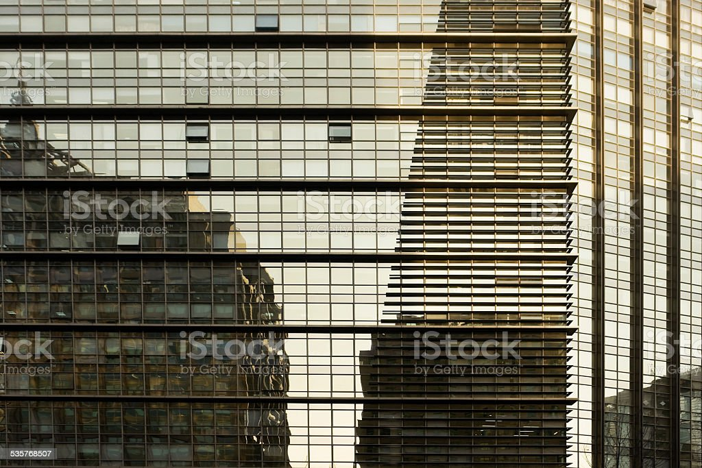 Building reflections stock photo