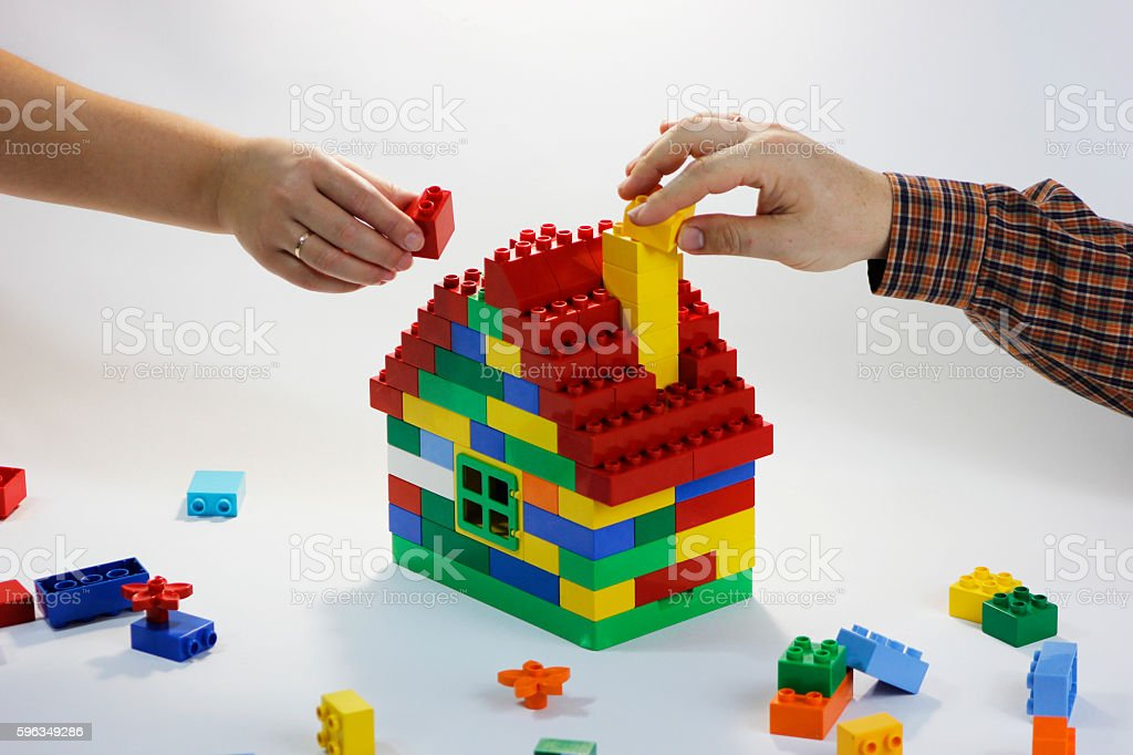 Building relationships of happy family 2 royalty-free stock photo