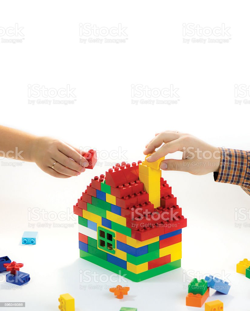 Building relationships of happy family royalty-free stock photo