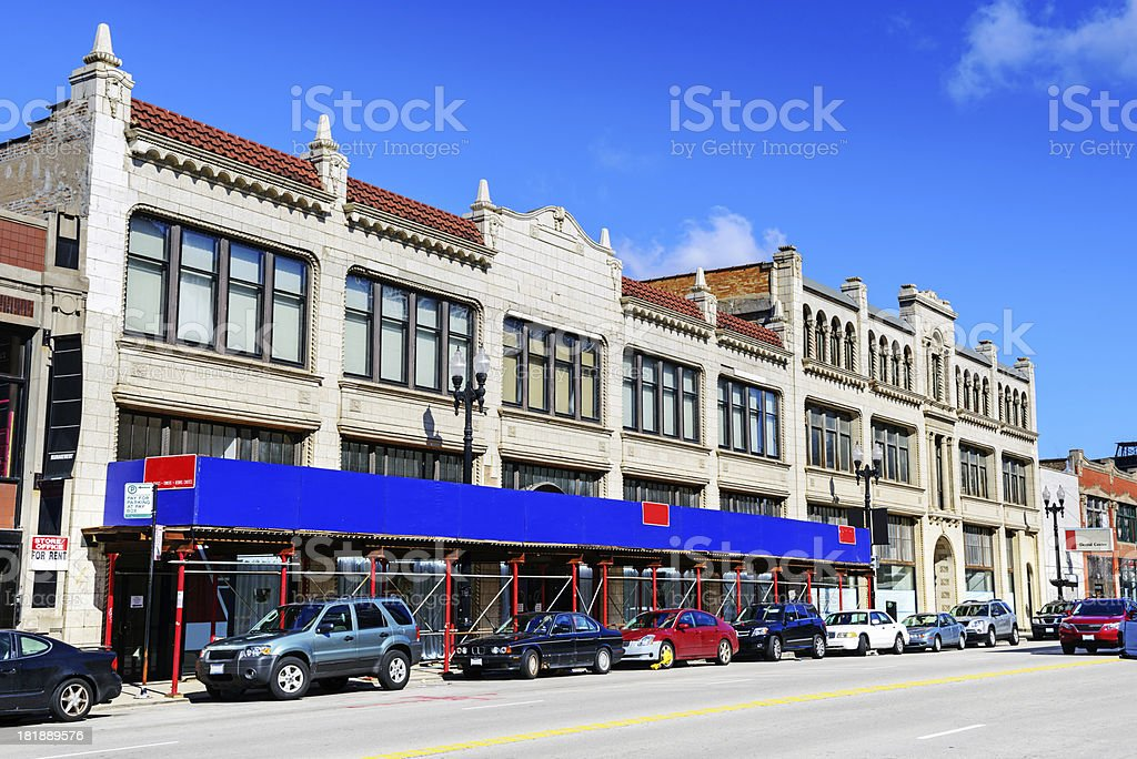 Building Renovation in Motor Row, Chicago royalty-free stock photo