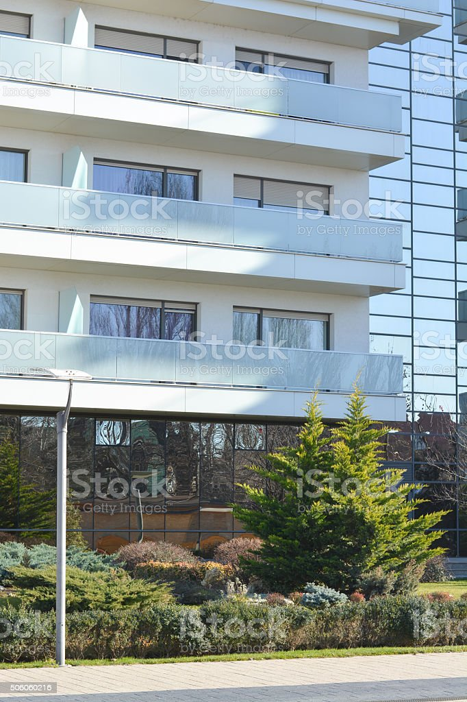 Building residential structures stock photo