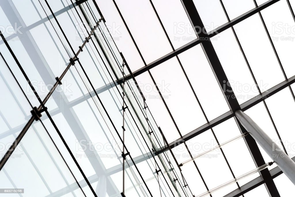 Building Roofing Struts and Glass stock photo