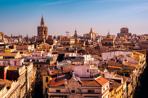 Building Rooftops In Spain