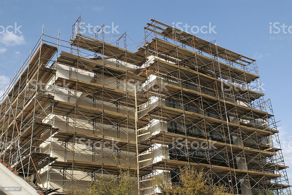 Building scaffolding royalty-free stock photo