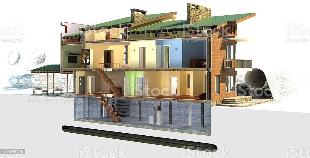 Building section stok fotoğrafı