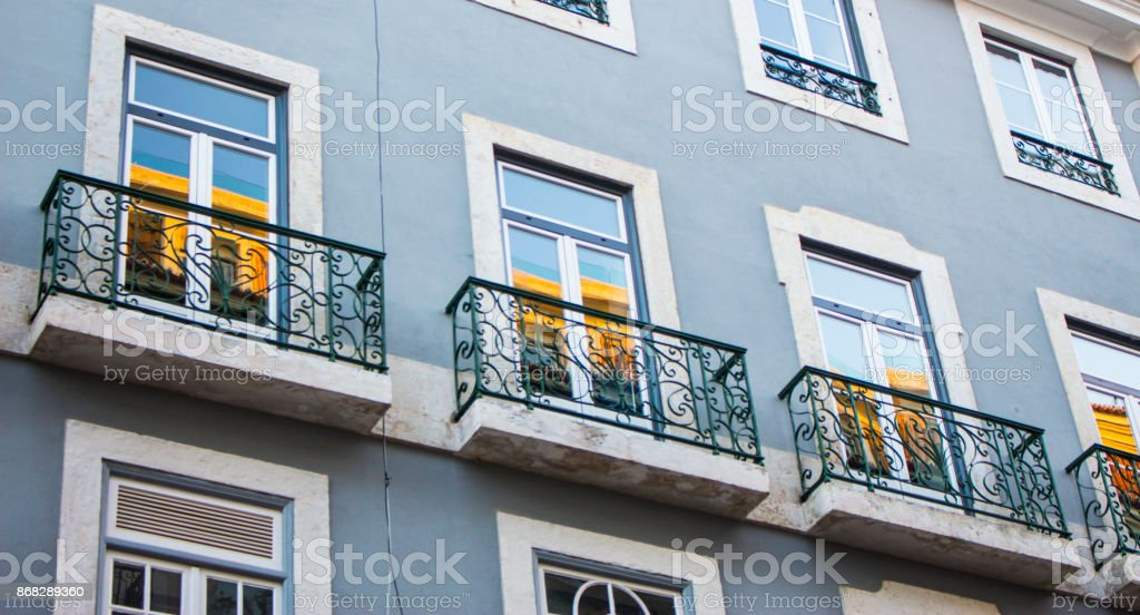 Building side stock photo