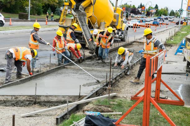 Building sidewalk stock photo