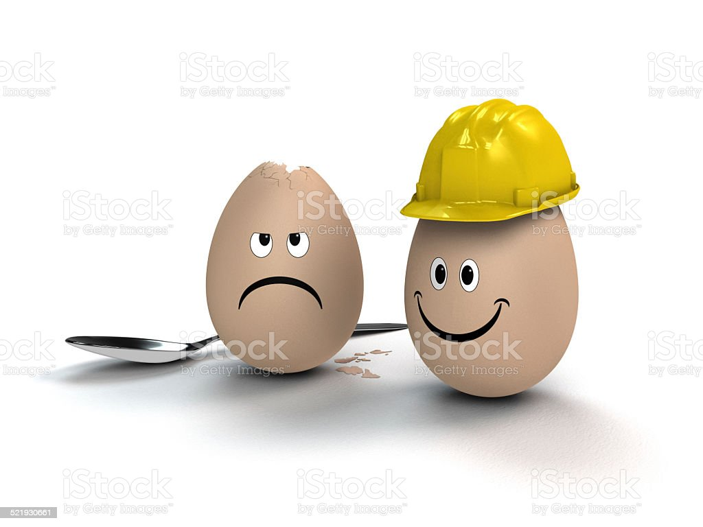 building site helmet protects you stock photo