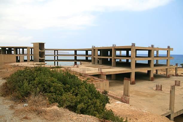 Building site in Crete stock photo