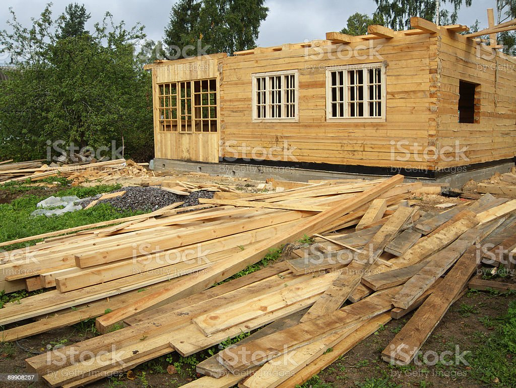 Building site out of town royalty-free stock photo