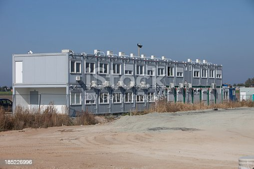 Employee barracks on the Building site