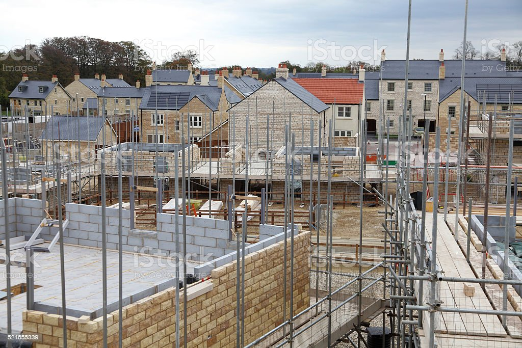 UK Building site stock photo