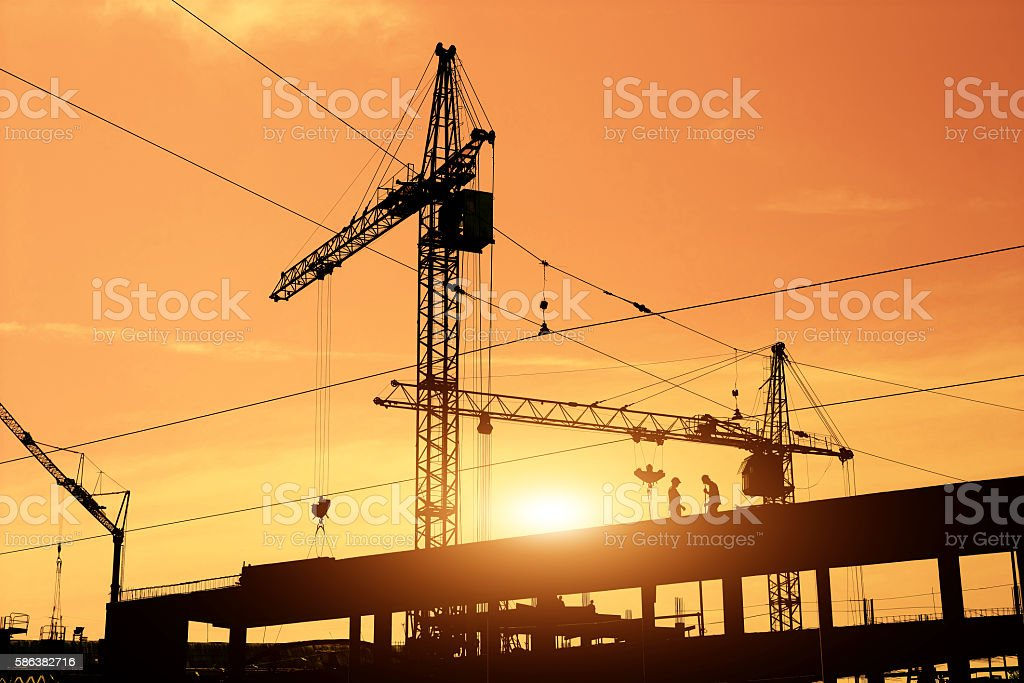 Building site stock photo
