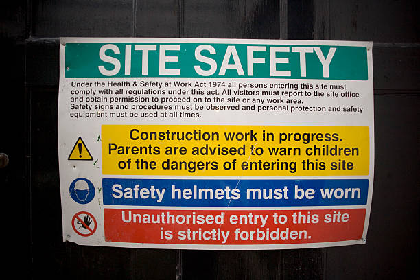 Building Site Safety Rules stock photo