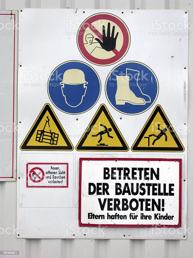 Building Site Signs royalty-free stock photo