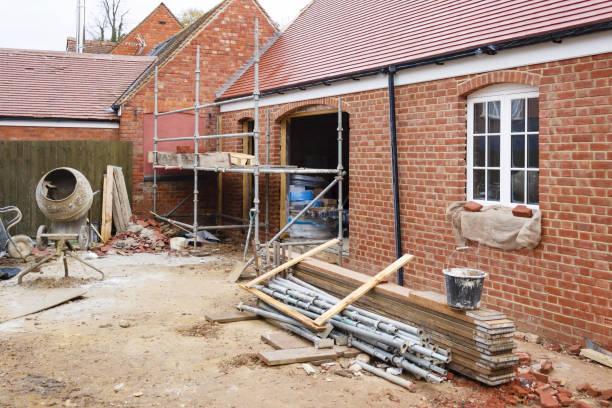 Building site UK stock photo