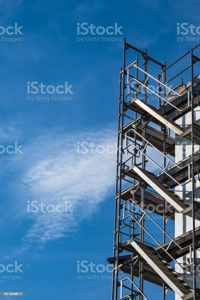 Building site with blue sky in Rostock, Germany stock photo
