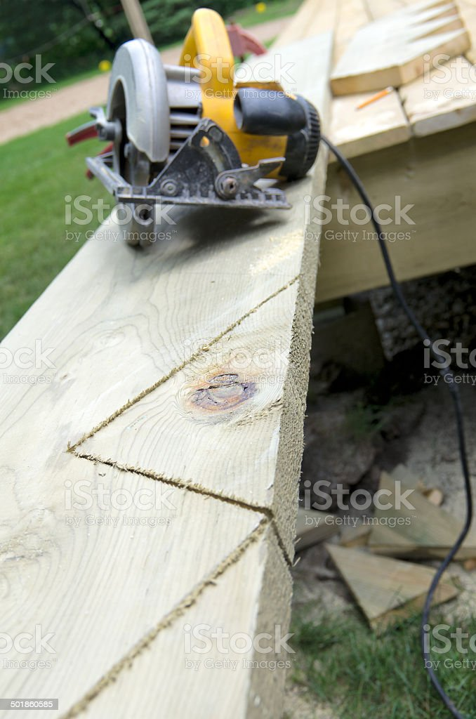 Building Stair Stringers royalty-free stock photo