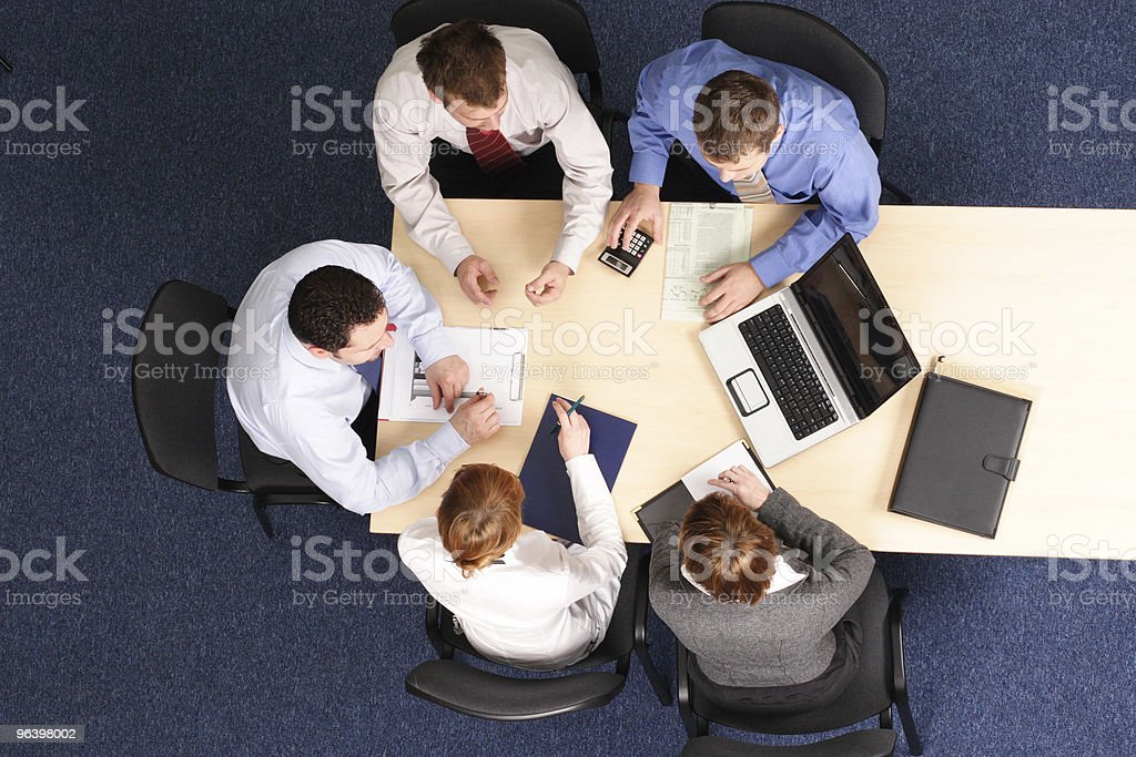 building strategy - business people meeting - Royalty-free Adult Stock Photo