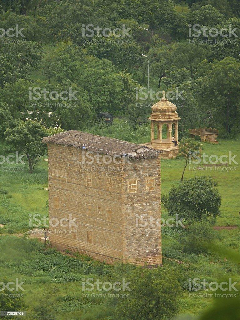 Building structure in Manav Sangrahalaya stock photo