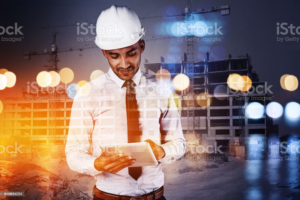 Building the cities of the future stock photo