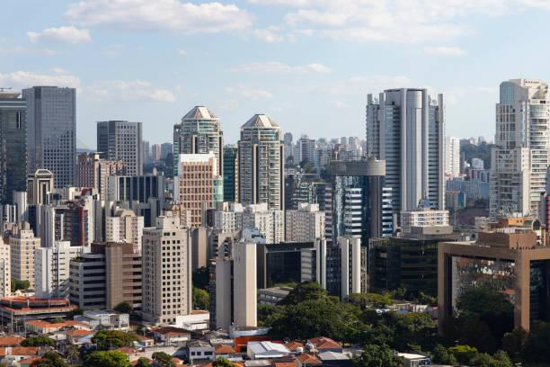construindo a cidade de são paulo, brasil américa do sul - sao paulo - fotografias e filmes do acervo
